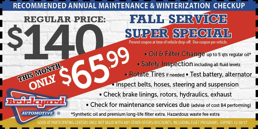 auto service fall coupon